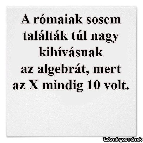 Rómaiak és az algebra